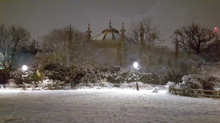 Brighton Dome in the snow