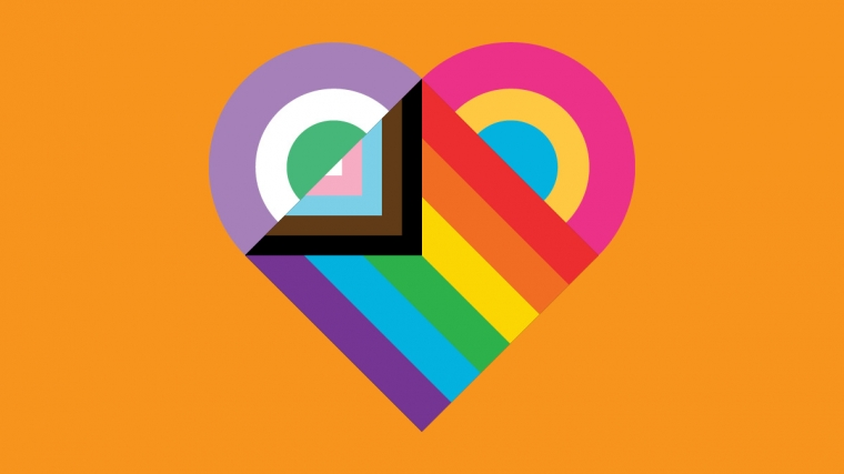 Pride 2019 Heart Illustration by George Lee