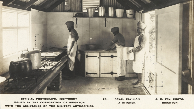 Chefs cooking in the Indian Hospital Kitchens