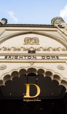 Brighton Dome facade from Church Street