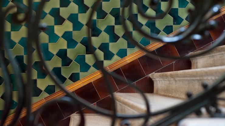 Brighton Dome architectural details - tiles