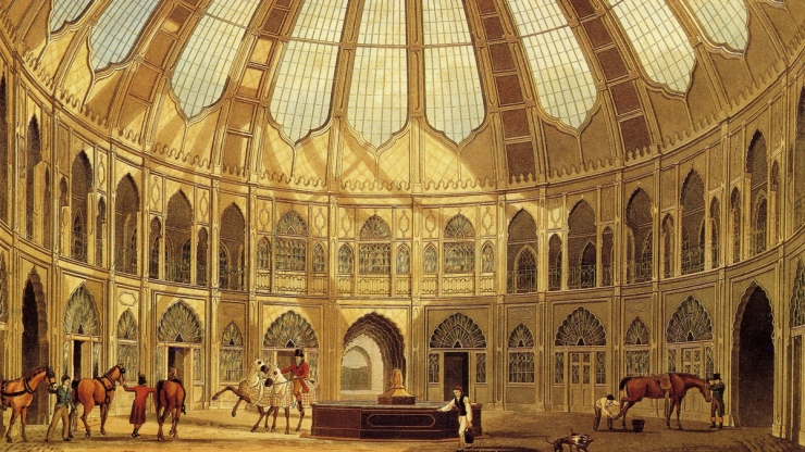 Brighton Dome as a Stables from 1803