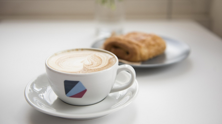 Coffee and Pastry at Cafe Domenica