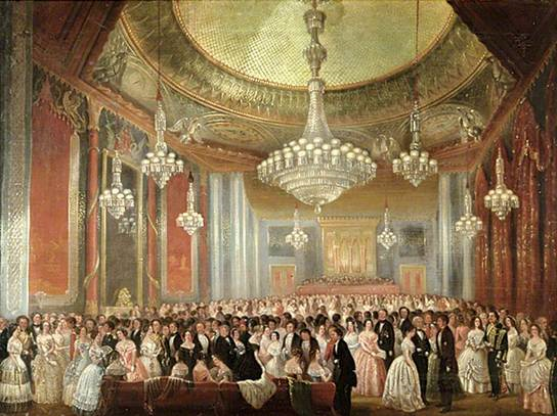Brighton Dome History Chandelier. The Grand Re-opening Ball in the Music Room of the Royal Pavilion 1851 – Aaron Penley