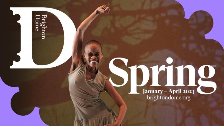 Brighton Dome Spring 2019 brochure, featuring Mo Gilligan