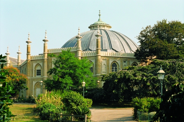 Brighton Dome view from the Pavilion Gardens