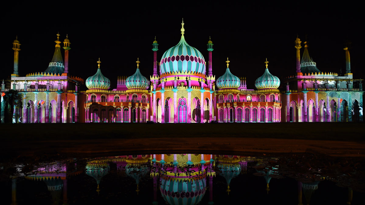 Projections on the Royal Pavilion for Dr Blighty event