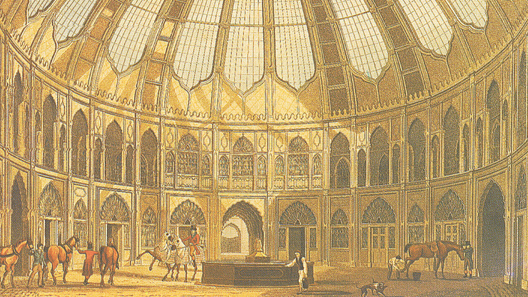 Brighton Dome was originally built as the stables and riding house for the Prince Regent 1803 - 1808