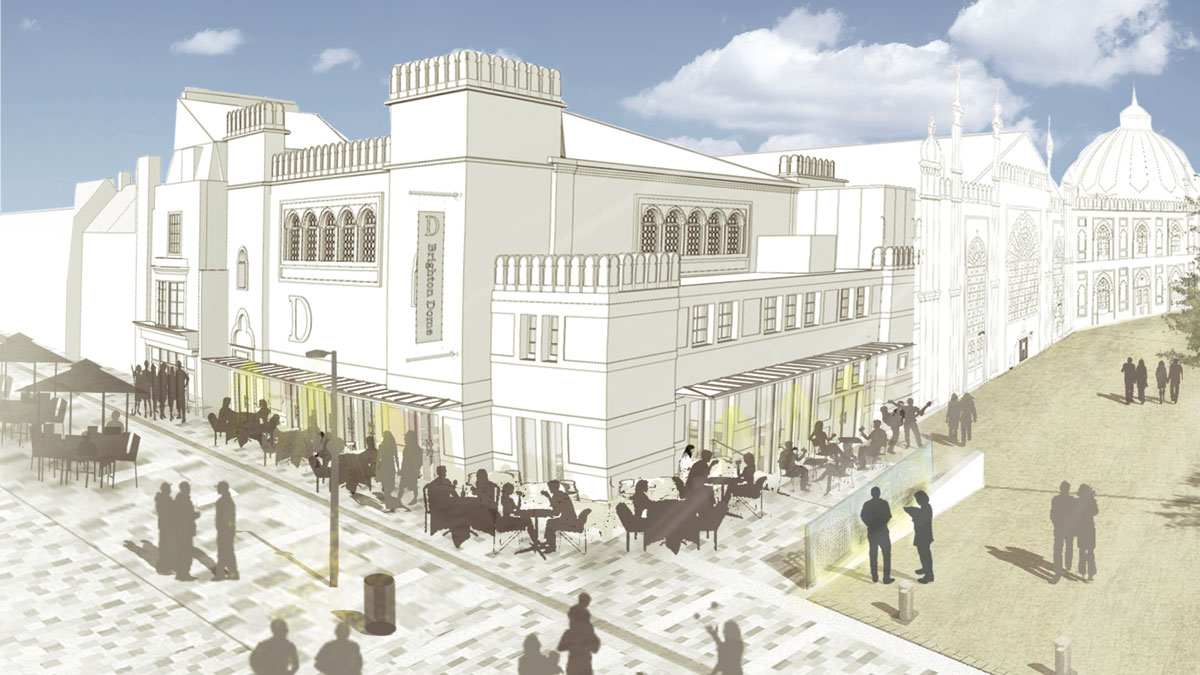 Brighton Dome New Road Cafe Visualisation
