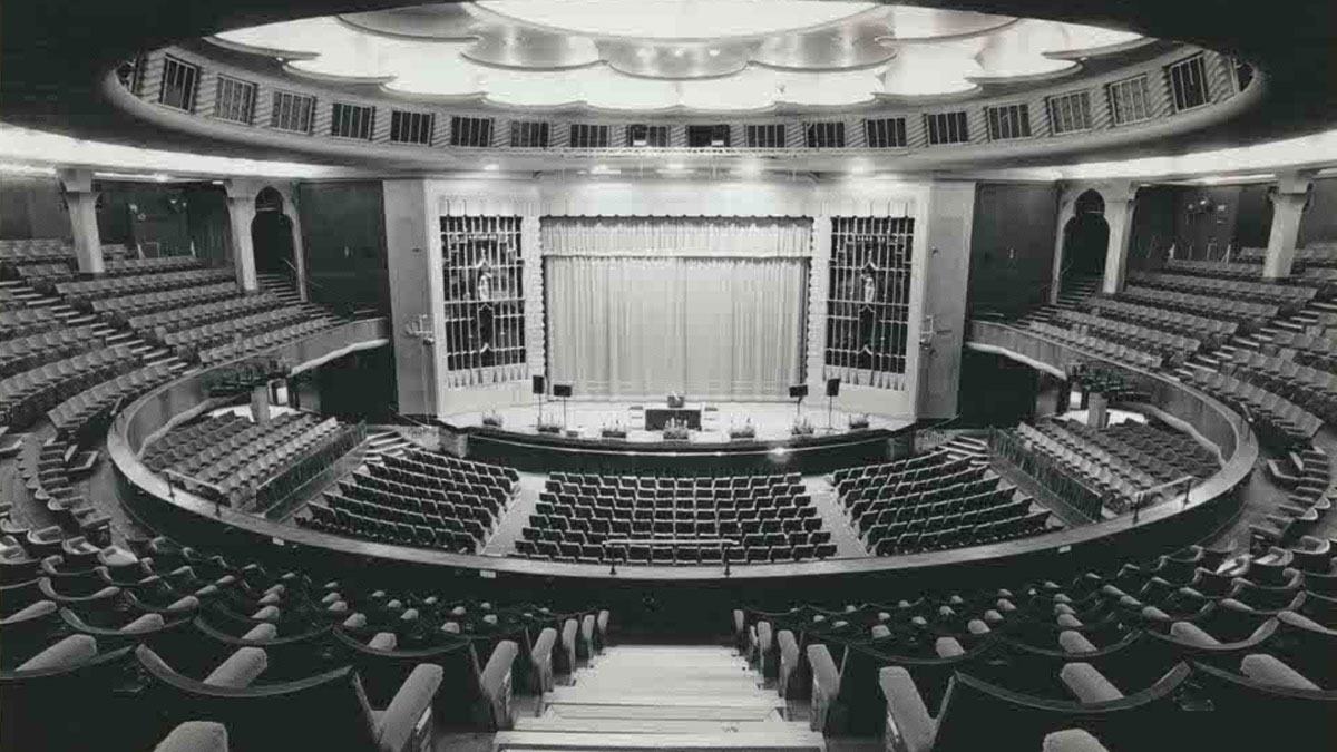 Refurbished Brighton Dome Concert Hall 1935