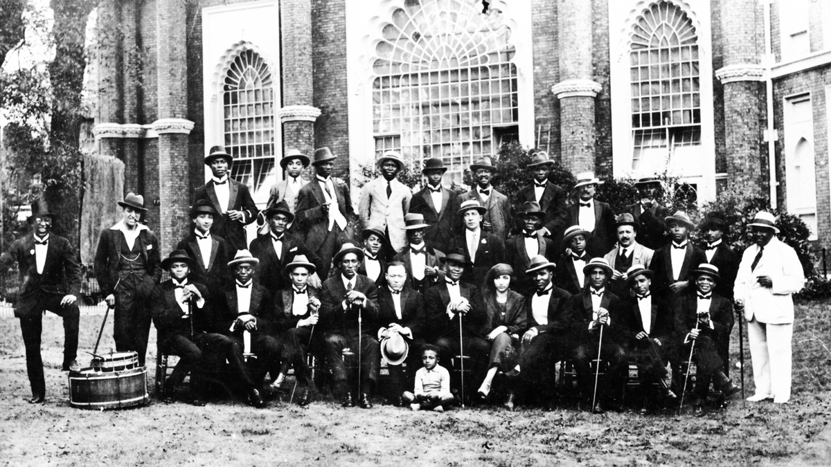 Southern Syncopate Orchestra outside Brighton Dome