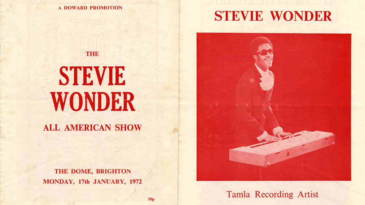 Stevie Wonder Programme for Brighton Dome 17 Jan 1972