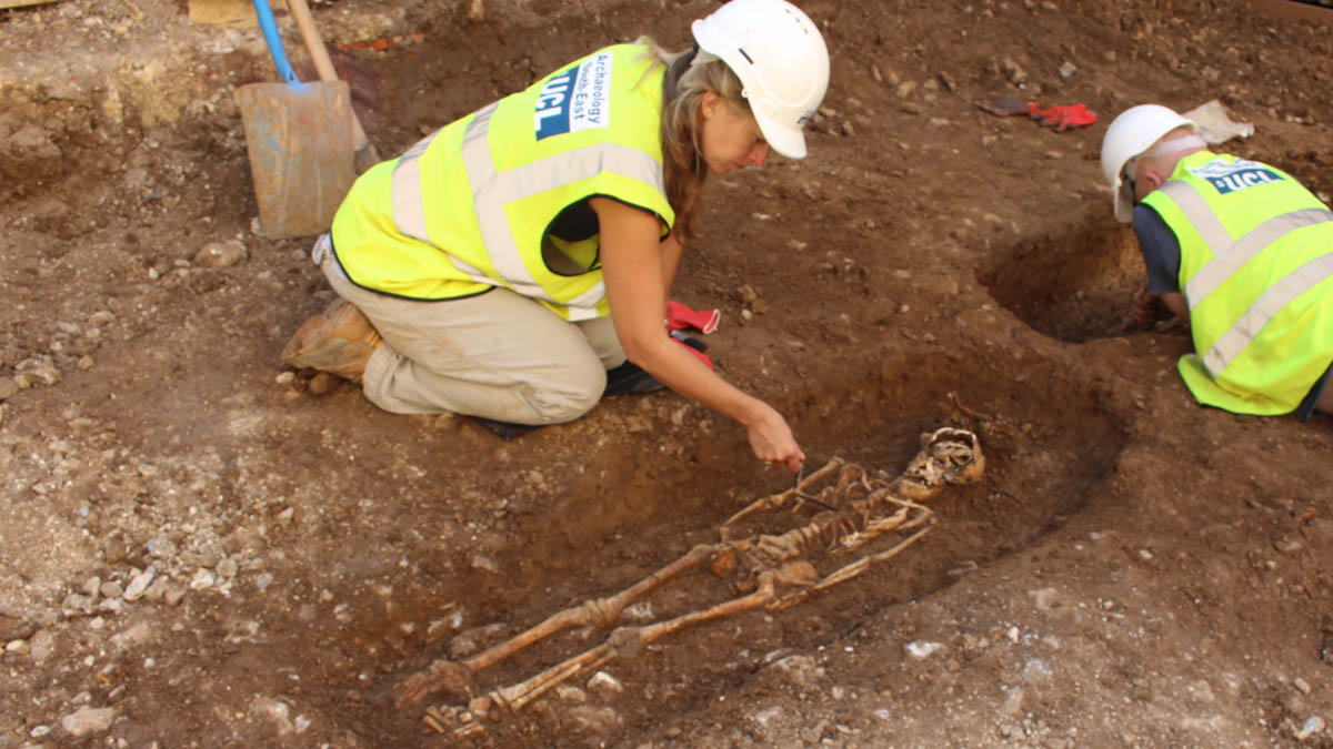 Brighton Dome Quaker Burial  Excavation August 2017