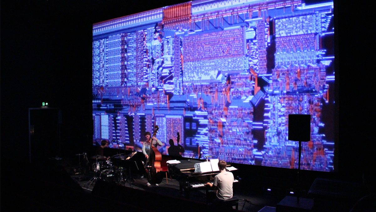 GoGo Penguin performing Koyaanisqatsi at Brighton Dome 2017