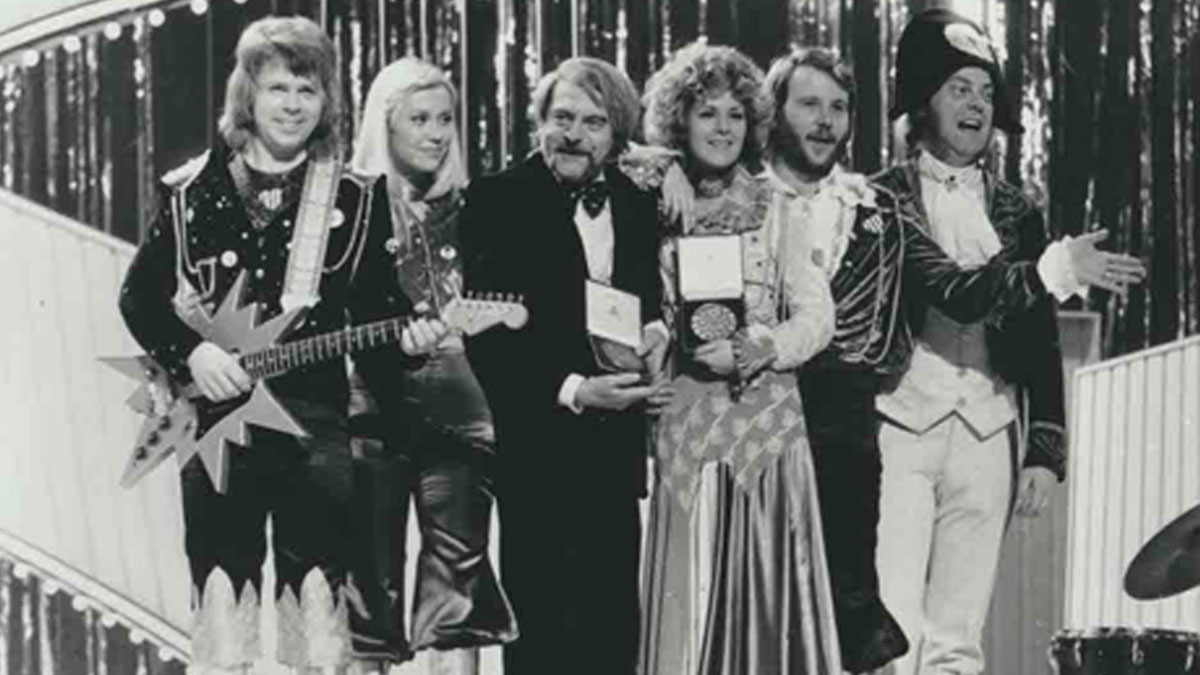 ABBA win Eurovision at Brighton Dome in 1974