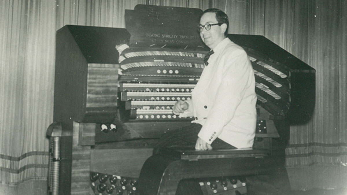 Douglas Reeve at the Organ