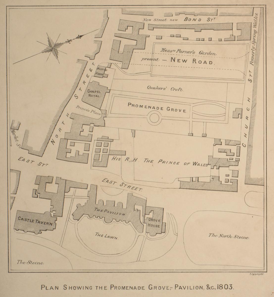 Historical Map Royal Pavilion Estate