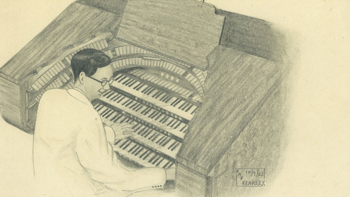 Illustration of Douglas Reeve at Brighton Dome Organ
