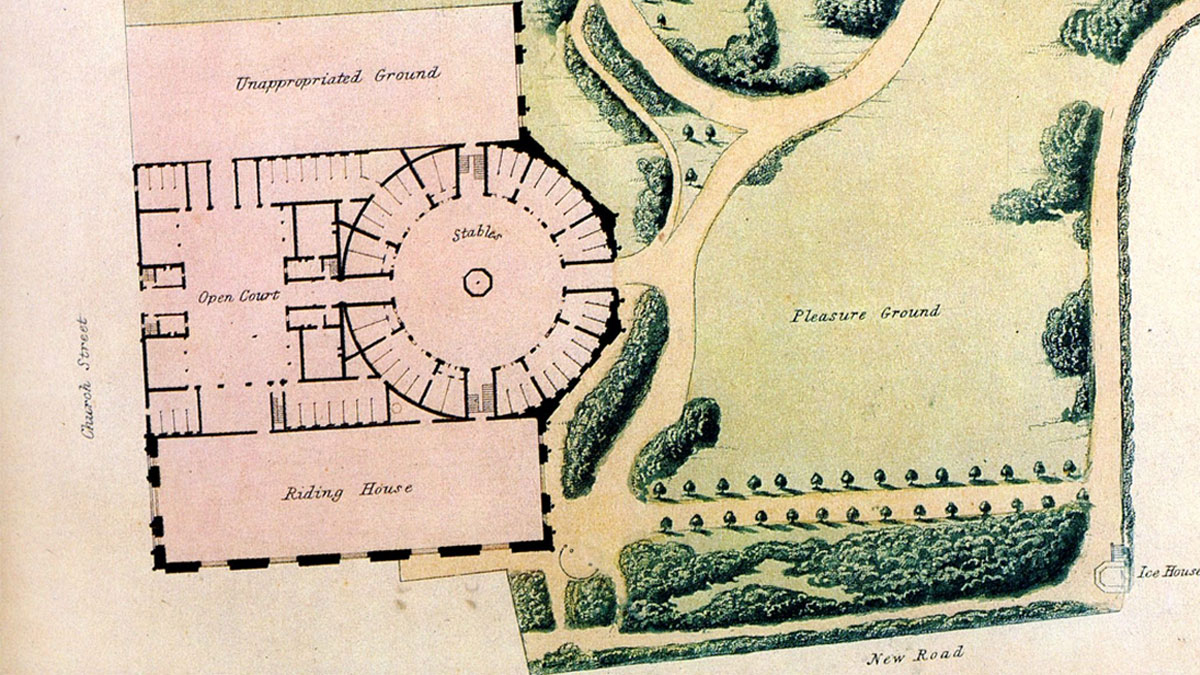 Stables and Riding House Map (Now Brighton Dome)
