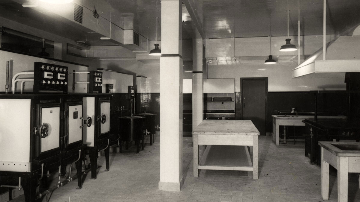 Kitchens in what is now Brighton Dome Studio Theatre 1935