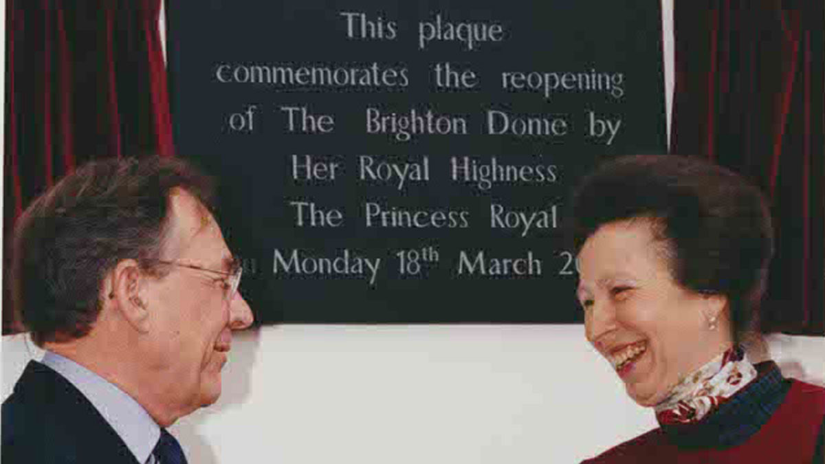 Princess Anne at Brighton Dome reopening in 2002